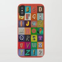 alphabet iPhone & iPod Cases featuring Alphabet by rob art | simple