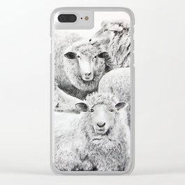 Rebaño (Flock) Clear iPhone Case