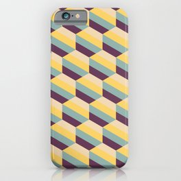 Striped Hexagons iPhone Case