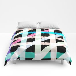 Weaving Soft Light in Black Comforters