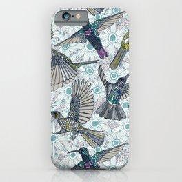 hum sun honey birds blue iPhone Case