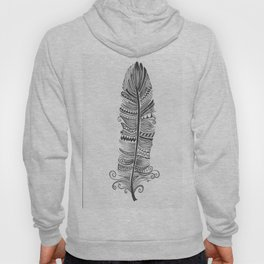 Black and White Feather Zen Hoody