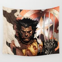 x men Wall Tapestries featuring X-MEN by Thorin