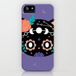 Moon Sugarskull Cat iPhone Case
