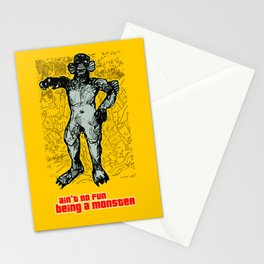 ain't no fun being a monster! Stationery Cards