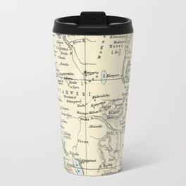 East Africa Vintage Map Travel Mug