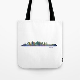Boston Massachusetts City Skyline Hq V1 Tote Bag