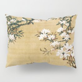 Ito Jakuchu - Malus Halliana And White-eye - Digital Remastered Edition Pillow Sham