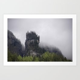 Foggy Cliff Art Print
