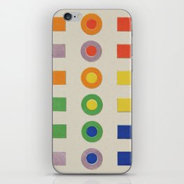 Chevreul Laws of Contrast of Colour, Plate VI, 1860, Remake, vintage wash iPhone Skin