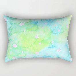 Starry Night Mint Tea Rectangular Pillow