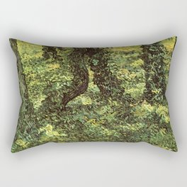 Trunks of Trees with Ivy Vincent van Gogh Rectangular Pillow