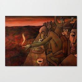 The Masochistic Mass Canvas Print