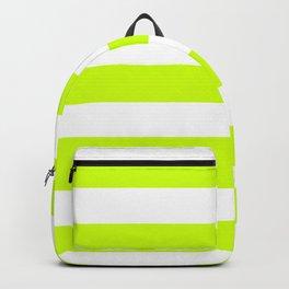 Volt - solid color - white stripes pattern Backpack