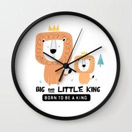 LION #9 Wall Clock