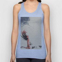 In the move - sexy nude girl, woman in bikini, abstract spiritual sketch, eagle spirit Unisex Tank Top