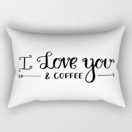 I Love You... & coffee Rectangular Pillow