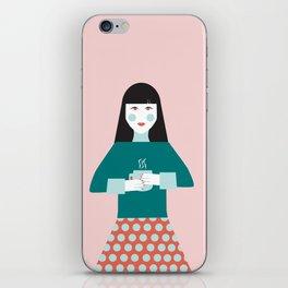 Coffee Break Woman iPhone Skin