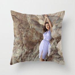 Bluebelle Rocks Throw Pillow