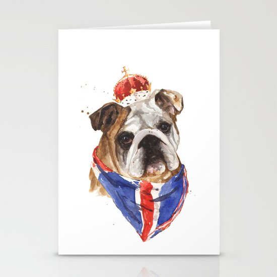Thank you LONDON - British BULLDOG - Jubilee Art Stationery Cards