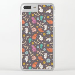Garden Flowers Style E Clear iPhone Case