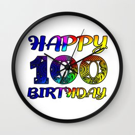 Happy 100th Birthday ,100th day of gift Wall Clock