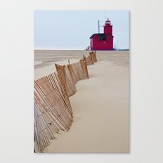 The Lighthouse Big Red in Holland Michigan No 0091 Canvas Print