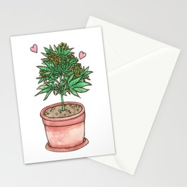 for the love of cannabis Stationery Cards