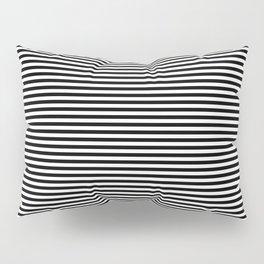 Horizontal Stripes in Black and White Pillow Sham
