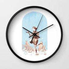 Walking Home Wall Clock