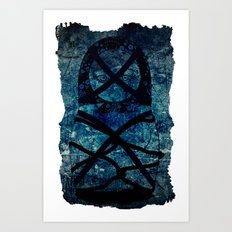 Blueprint Bondage (background) Matryoshka  / Nesting Doll  Art Print