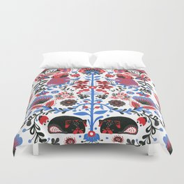 The Pug of Folk Duvet Cover