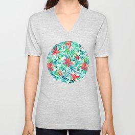 Paradise Floral - a watercolor pattern Unisex V-Neck