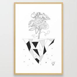 Flying Rose. Framed Art Print