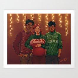 Christmas Portrait Art Print