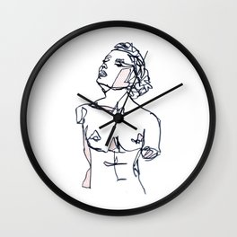 Chin Up Wall Clock