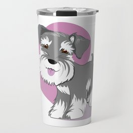 Miniature Schnauzer Puppy Dog Adorable Baby Love Travel Mug