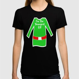 Matching Christmas Shirts Youngest Elf T-shirt