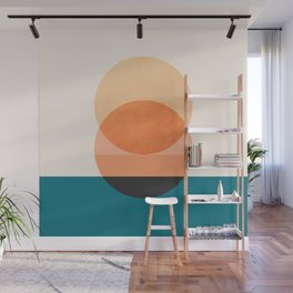 Abstraction_NEW_SUNSET_OCEAN_WAVE_POP_ART_Minimalism_0022D Wall Mural