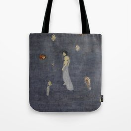 Lingering in the ups and downs of the sound. Tote Bag