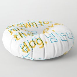 The quick brown fox jumps over the lazy dog. - Korean alphabet Floor Pillow