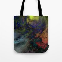 interstellar Tote Bags featuring Interstellar  by AURA by MJ