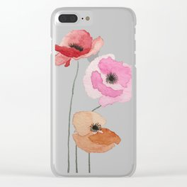 All the Pretty Poppies Clear iPhone Case
