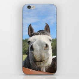 Horse Smile Photography Print iPhone Skin