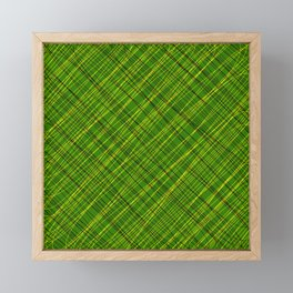 Royal ornament of their green threads and yellow intersecting fibers. Framed Mini Art Print