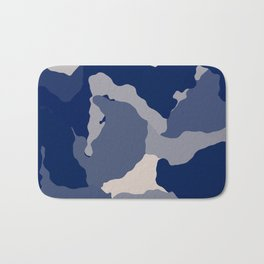 Blue Camo abstract Bath Mat