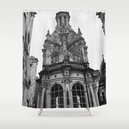 Gothic French Architecture Shower Curtain