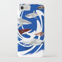 sharks iPhone & iPod Cases featuring Sharks. by Sylvie Heasman