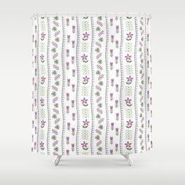 Classic Embroidery Shower Curtain