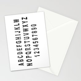 Grunge Alphabet Stationery Cards